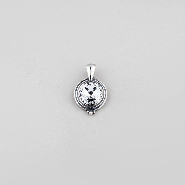 Miglio Designer Jewellery - Classic Burnished Silver Pendant