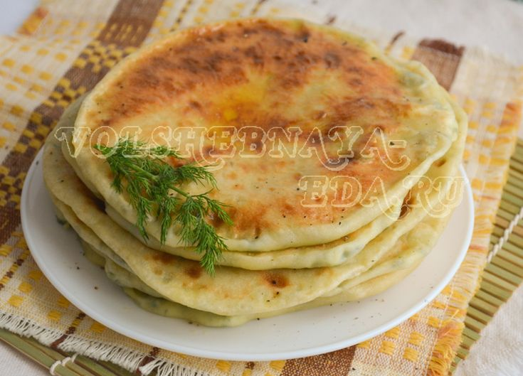 Хычины. Рецепт хычинов с сыром и зеленью