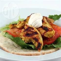 Low fat curried chicken salad wrap @ allrecipes.co.uk