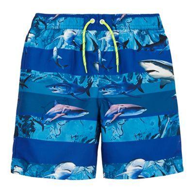 bluezoo Boys' blue shark print swim shorts | Debenhams