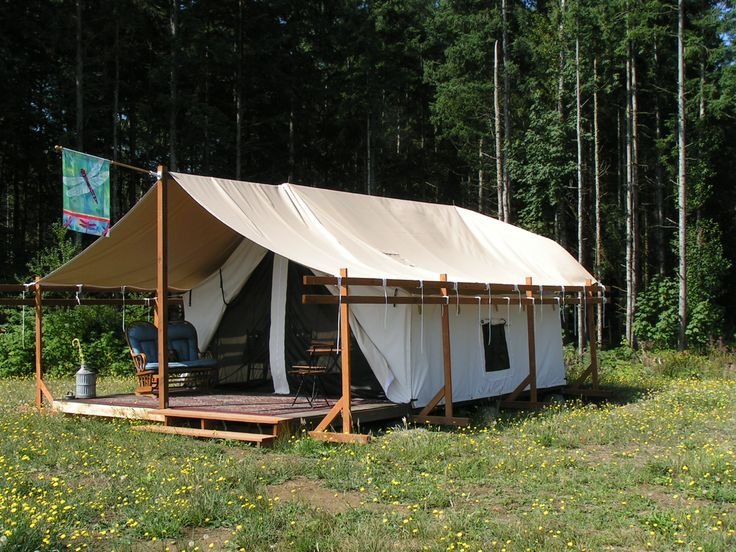 17 best images about outdoor life on pinterest wall tent for Canvas platform tents
