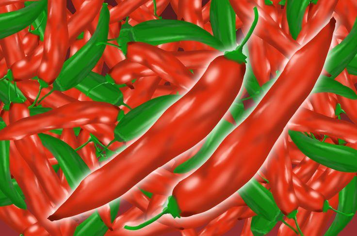 辛い唐辛子のイラスト素材!お料理のスパイスのイメージ素材に!緑のししとうのイラストもあります。とっても辛くて熱い野菜の素材集!