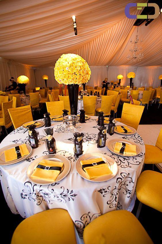 70 Best Yellow Grey Amp White Weddings Images On Pinterest