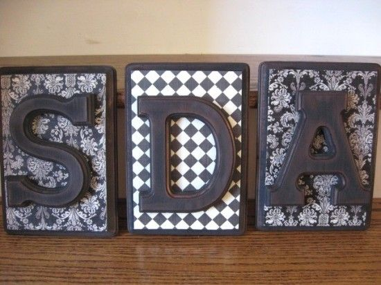 Decoupage Monogram Plaque: Monogram Plaque, Diy Crafts, Cute Ideas, Framed Letters, Ideas Love Letters, Wooden Letters, Diy Letters On Wood Initials, Craft Ideas, Monograms
