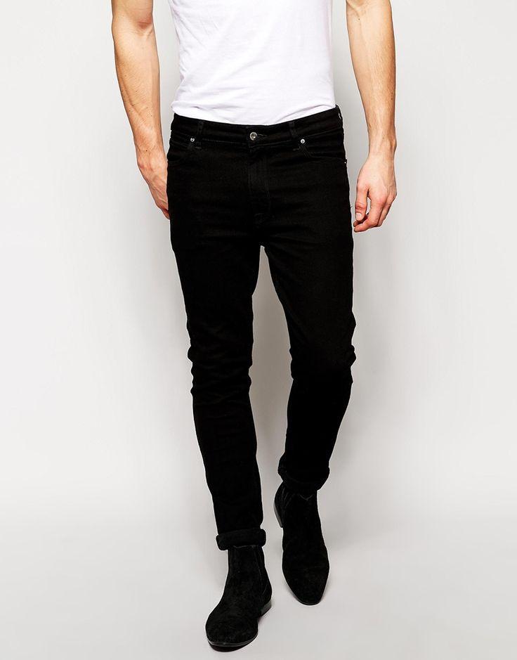 Image 1 ofASOS Super Skinny Jeans in Black