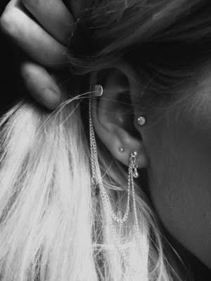 women, tragus piercing, body art, for girls, piercing, idea 243