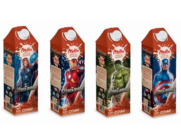 Los Vengadores, en el diseño del envase del nuevo batido de chocolate de COVAP. Leer más en http://www.infopack.es/contenido.php?idcon=464