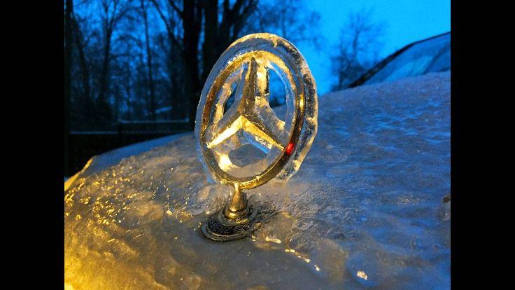Mercedes w203 encased in ice