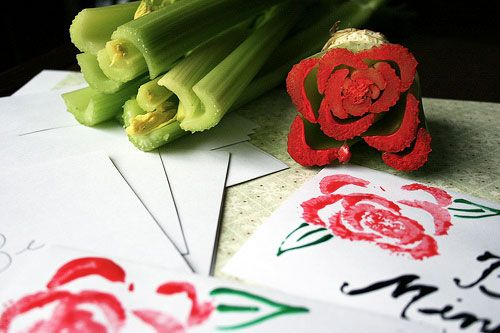 "adorable celery ""rose"" stamps"