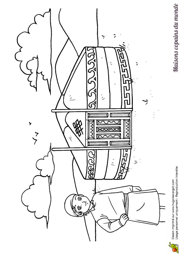 69 best images about dessins coloriages des pays du monde entier on pinterest around the - Dessin maison maternelle ...