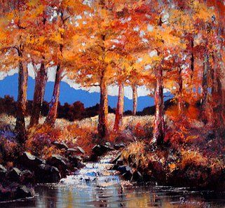 """Autumn trees"" original oil painting by artist Vanessa Penman - www.penman.co.nz"