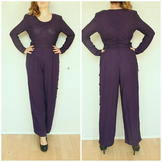 Romper jumpsuit for woman long sleeve 80' summer medium 12