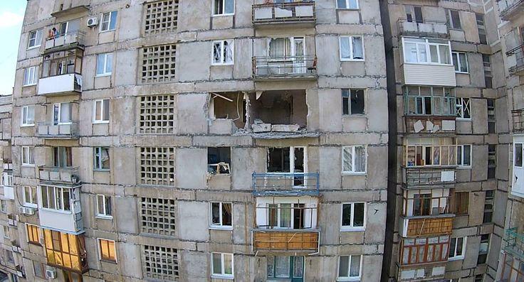Gorlovka today - result of Ukrainian shelling yesterday