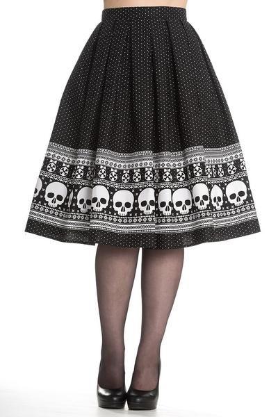 Clara Skull Swing Skirt