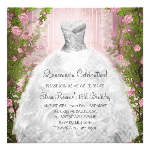 17 Best images about Quinceanera Invitations on Pinterest