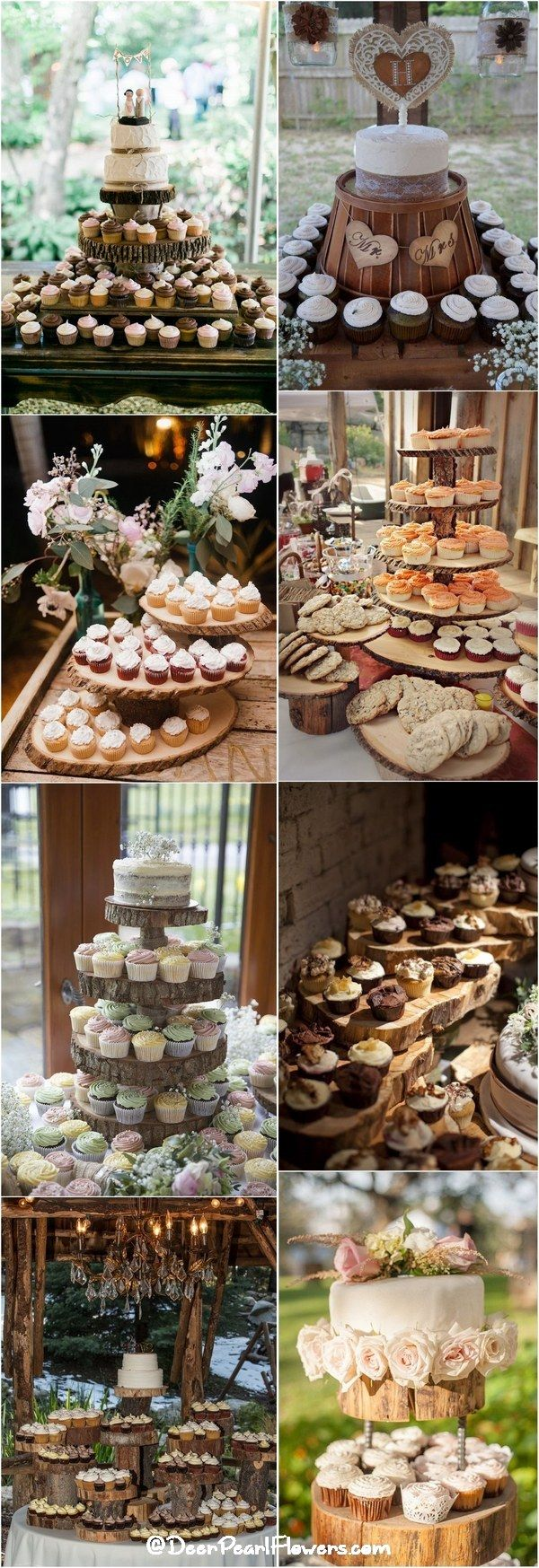 25 Amazing Rustic Wedding Cupcakes U0026 Stands