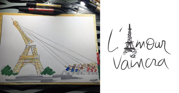 hommage-dessin-attentat-paris - Piwee