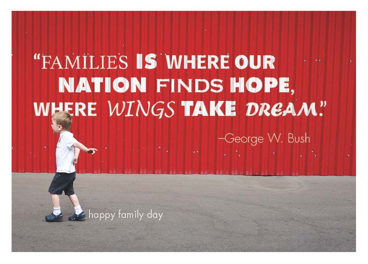 """""""Families is where our nation finds hope, where wings take dream"""" Card by Eric Berndt"""