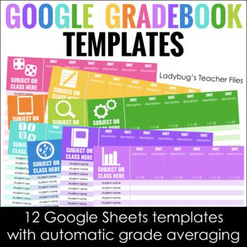 Google Sheets Gradebook Templates   Classroom Organization
