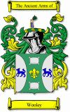 Wooley Coat of Arms / Wooley Family Crest - www.4crests.com #coatofarms #familycrest #familycrests #coatsofarms #heraldry #family #genealogy #familyreunion #names #history #medieval #codeofarms #familyshield #shield #crest #clan #badge #geneology #tattoo #ancestry