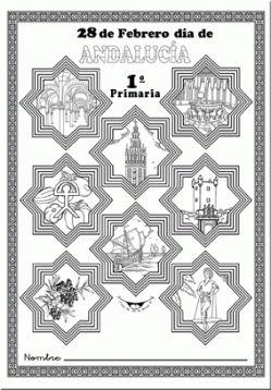 Acceso a cuadernillo con diferentes motivos para el día de Andalucía.