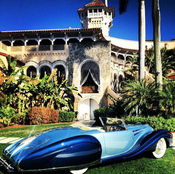 Cue the James Bond music...    Mar-a-Lago classic car show in Palm Beach.