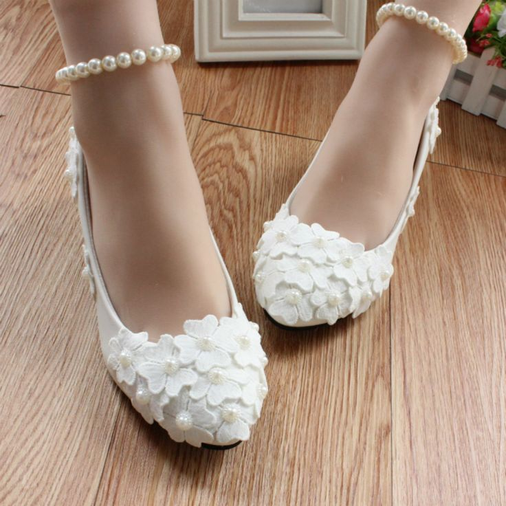 >> Click to Buy << Adults Flats Handmade Bride and Bridesmaids Shoes Flat White Low-Heeled soft sole Shoes Wedding Pearl anklet Shoes Female Party #Affiliate