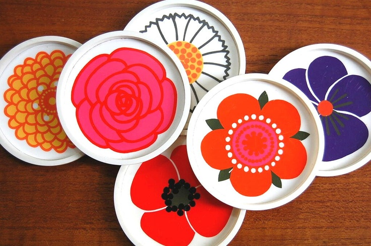 Laurids Lonborg coasters. I own a set of these with the original box, they're fun!