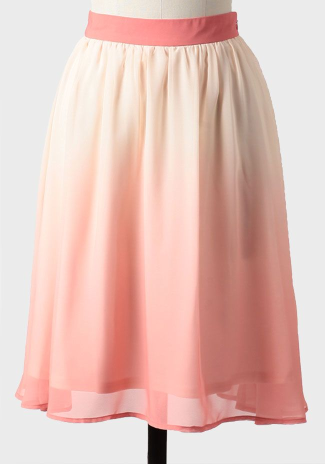 Gorgeous ombre skirt from ShopRuche. Perfect for Spring! #pink