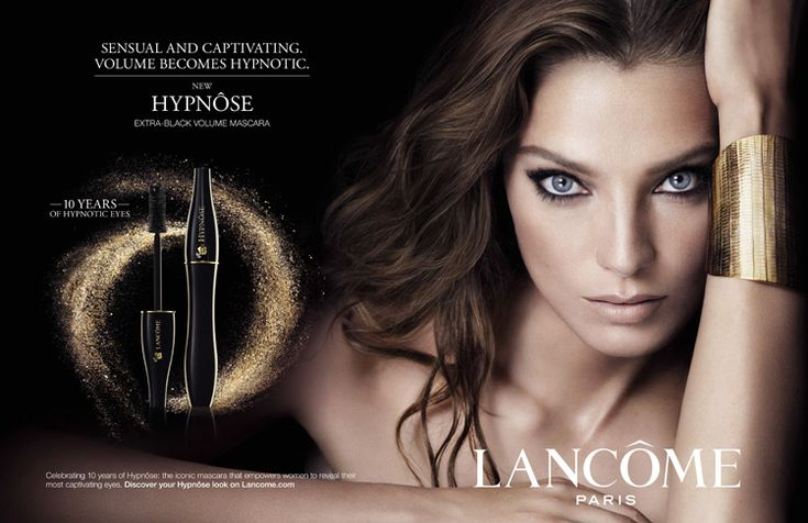Lancôme Hypnôse Mascara 2014 Ad Campaign