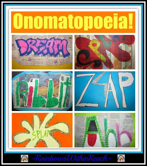Onomatopoeia Art in the Elementary School via RainbowsWithinReach