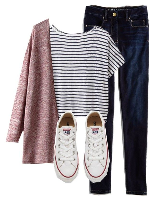 """converse outfit"" by rockar ❤ liked on Polyvore featuring American Eagle Outfitters, Athleta, Converse, women's clothing, women, female, woman, misses and juniors"