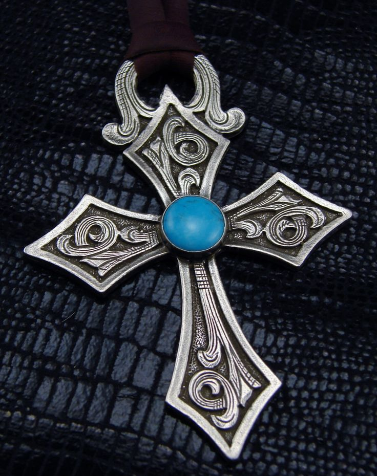 Turquoise King Knight Cross Pendant Turquoise Stone
