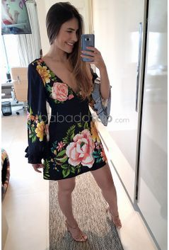 a0139742a VESTIDO CURTO FARM BABADO FLOR DE SOL - BabadoTop   Summer   Fashion ...