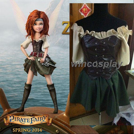 Disney Pirate Fairy (spring 2014) Meet Zarina cosplay  costume Halloween costume on Etsy, $85.20