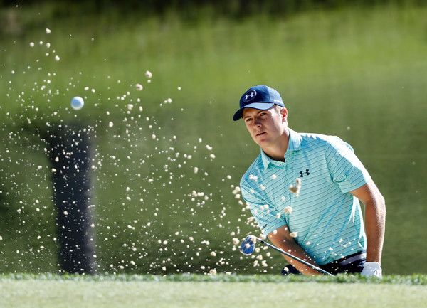 Jordan Spieth Photos Photos - Jordan Spieth hits third shot on the third hole during the first round of the Memorial Tournament at Muirfield Village Golf Club on June 1, 2017 in Dublin, Ohio. - The Memorial Tournament Presented By Nationwide - Round One