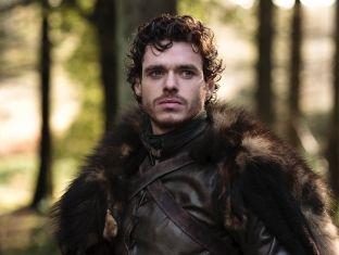 Robb Stark - como hijo mayor de Stark, Robb es el heredero de Invernalia pero cuando Joffrey decide decapitar a su padre se convierte en Señor y más tarde, Rey en el Norte por petición de sus hombres.  Tiene cuatro hermanos: Sansa, Bran, Arya y Rickon. Guarda una gran relación con Jon, su mediohermano y con Theon, el pupilo de su padre. Su lobo se llama Viento Gris.