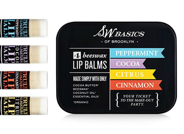 SW Basics of Brooklyn lip balm packaging, and check out that tagline!