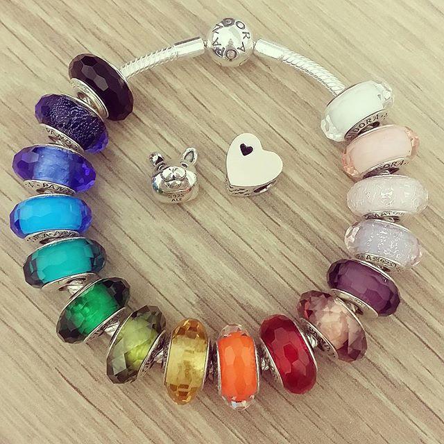 #Rainbow #pandora #bracelet!!! Would you wear this #colourful bracelet??…