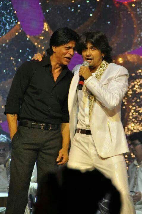 SRK with Sonu Nigam