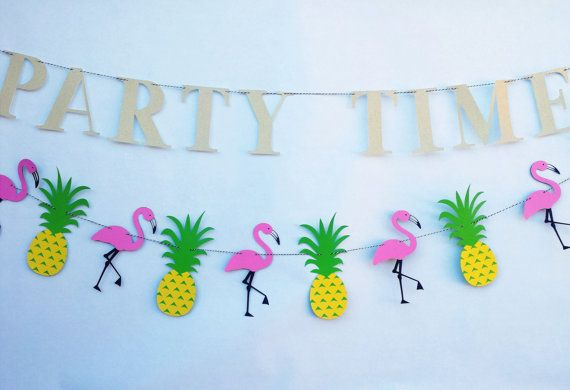 Flamingo And Pineapple PARTY Fun Birthday by EMTsweeetie on Etsy