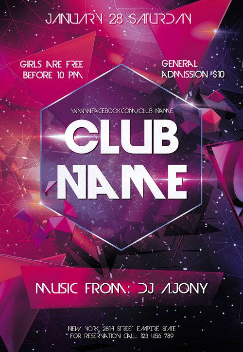 CLUB flyer text area - Google Search