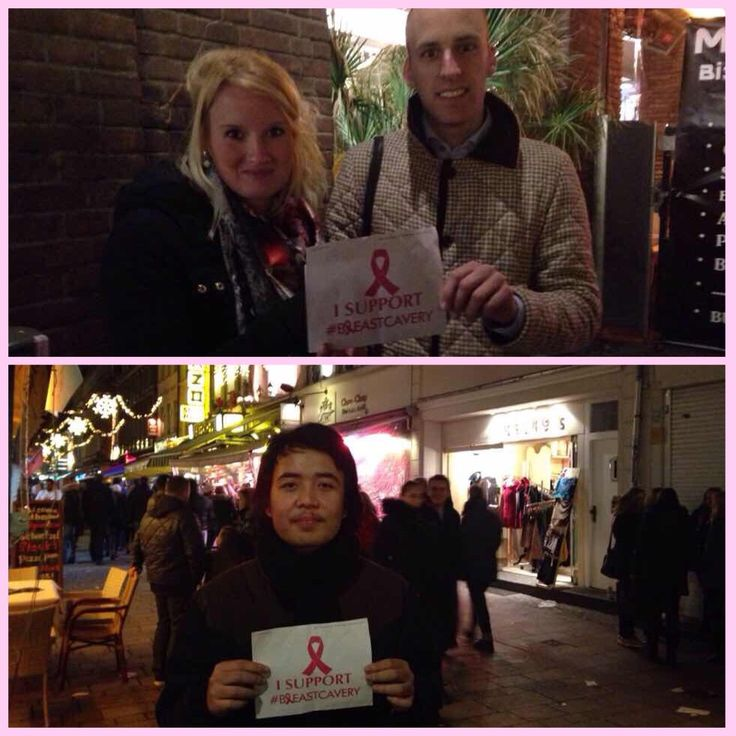 Azmi with his friends support our movement from Germany. Let's make people aware about breast cancer! #breastcavery