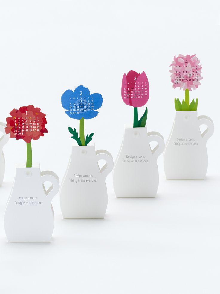 Paper Flowers 2017 Calendar