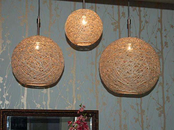 goldfarbige kronleuchter - selber machen - kreative ideen - Lampe selber machen – 30 einmalige Ideen