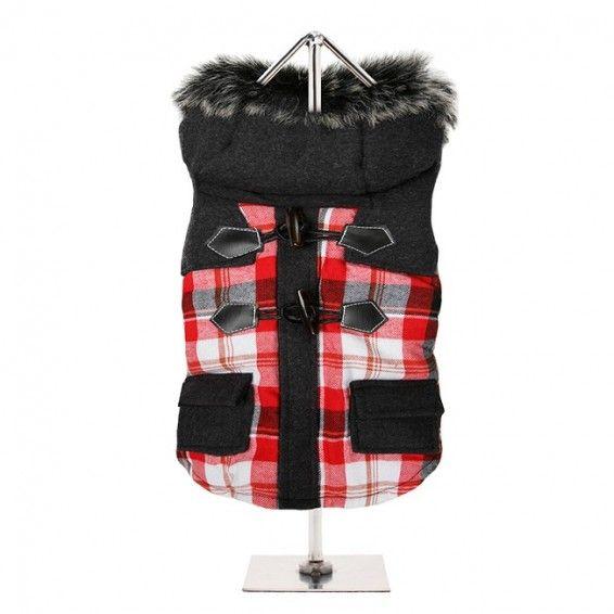 Highland Tartan Dog Duffle Coat