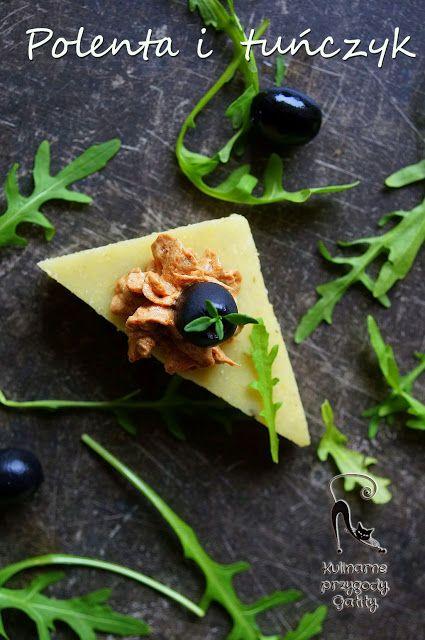 Kulinarne przygody Gatity: Ziołowe trójkąty z polenty z pastą tuńczykową