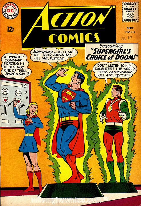 supergirl comic book covers   Comic Book Covers: Action Comics