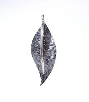 925 Ayar Gümüş Defne Yaprağı Kolye Ucu