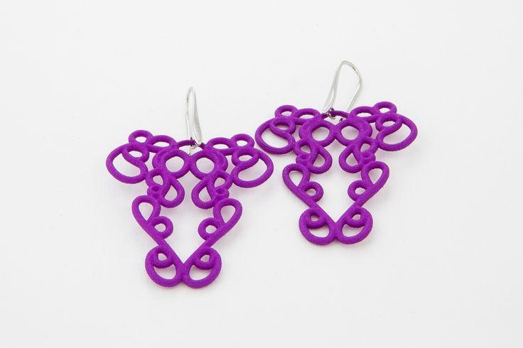 Earrings - Paolin - Spring-Summer 2015, 3D printed jewellery ph: Roberta De Min  all rights reserved, ph©Roberta De Min 2014